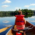 Child in canoe