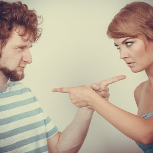 Couple Pointing Fingers At Each Other, Conflict